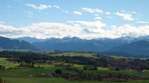 Alpenpanorama bei Böbing