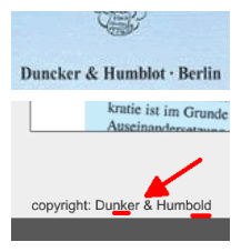 Duncker/Dunker & Humblot/Humbold