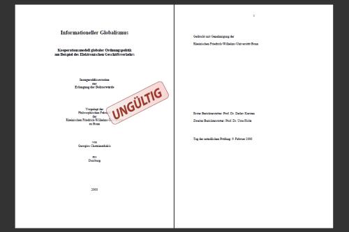 Titelseiten von Chatzimarkakis Dissertation
