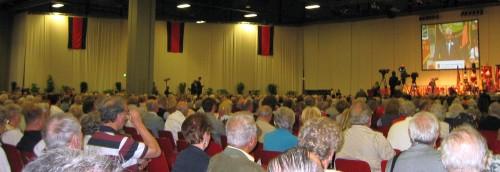 Das Publikum bei Seehofers Rede