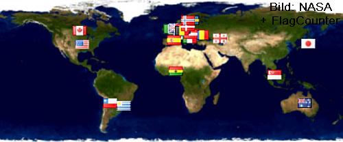 Globale Sichtbarkeit dieses Blogs