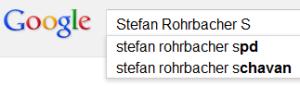Mehr Leute suchen nach Rohrbacher und der SPD als nach Rohrbacher und Schavan. Hinweis auf: Nichts.