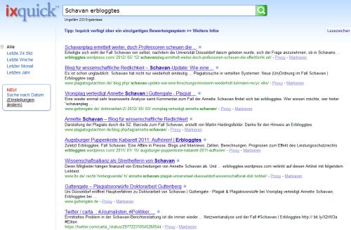 ixquick.com, Schavan erbloggtes, 1-10