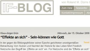 Grün 2008 im IF-Blog: Effekte an sich - Sein-können wie Gott