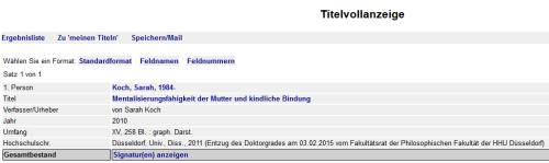 Screenshot aus dem katalog.ub.uni-duesseldorf.de