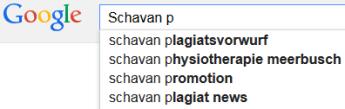 Google vervollständigt Schavan P